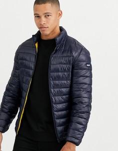 Темно-синяя легкая дутая куртка узкого кроя Schott - Oakland-Темно-синий