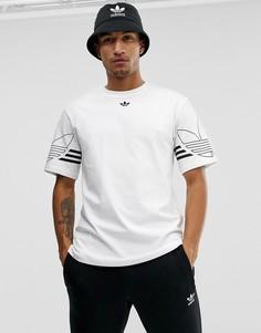 Белая футболка с логотипом-трилистником adidas Originals Outline DU8536-Белый