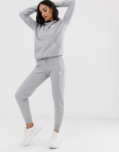 Узкие серые джоггеры Nike essentials-Серый