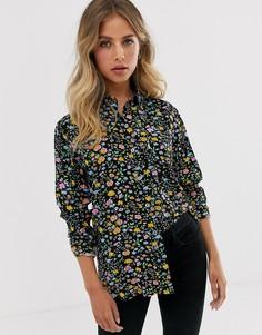 Рубашка бойфренда с цветочным принтом Levis-Черный