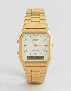 Цифровые часы-браслет Casio AQ-230GA-9DMQYES-Золотой