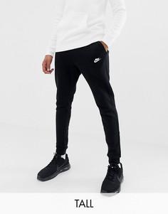 Черные джоггеры с манжетами Nike Tall Club 804408-010-Черный