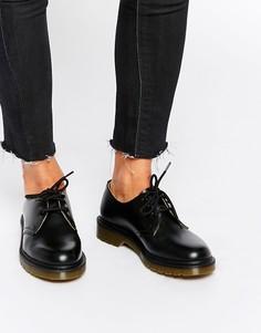 Черные туфли на плоской подошве Dr Martens 1461-Черный