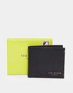Кожаный складной бумажник с отделением для монет Ted Baker Harvys-Черный