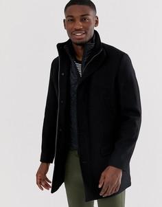 Классическое шерстяное пальто Selected Homme-Черный