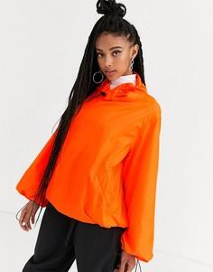 Оранжевый дождевик с контрастной отделкой ASOS DESIGN