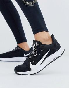 Черно-белые кроссовки Nike Running quest-Черный