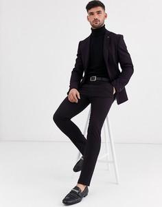 Темно-фиолетовые зауженные брюки Avail London-Фиолетовый