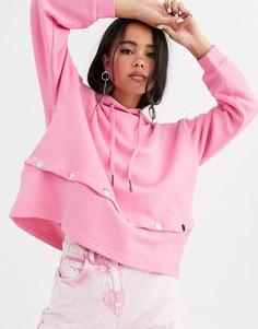 Худи с длинными рукавами Noisy May-Розовый