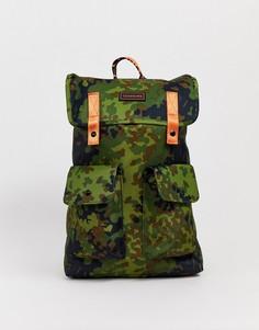 Оранжевый рюкзак с камуфляжным принтом Consigned-Зеленый
