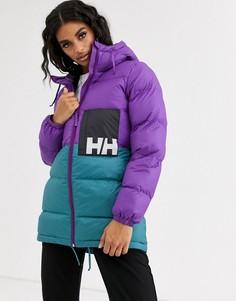 Фиолетовая дутая куртка Helly Hansen-Фиолетовый