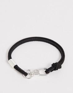 Черный браслет из искусственной замши Icon Brand