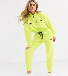 Спортивные штаны из искусственного меха с логотипом Ellesse-Зеленый