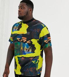 Oversize-футболка с принтом COLLUSION Plus-Черный