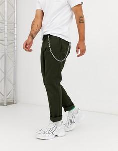 Серебристая цепочка для джинсов с игральной костью ASOS DESIGN-Серебряный