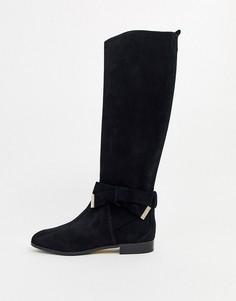 Замшевые высокие ботинки из замши с бантиками Ted Baker Sintiia-Черный