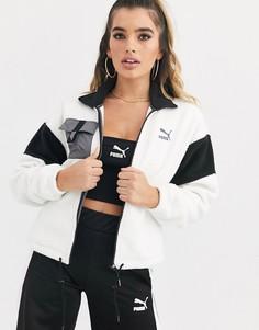Белая флисовая куртка Puma XTG-Бежевый