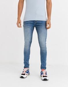 Синие джинсы скинни Criminal Damage-Синий