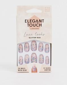 Накладные ногти Elegant Touch - Luxe (Glitter Bae)-Розовый