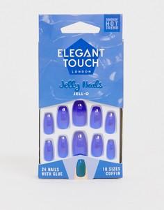 Накладные ногти Elegant Touch Jelly - Jell O-Синий