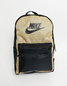 Черный/коричневый рюкзак Nike Heritage-Светло-коричневый