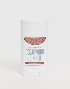 Натуральный дезодорант с экстрактом кедрового дерева и можжевельника Schmidts-Бесцветный Schmidts