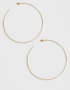 Золотистые серьги-кольца ASOS DESIGN 80 мм-Золотой