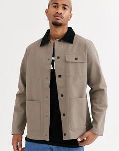 Бежевая куртка Vans-Черный