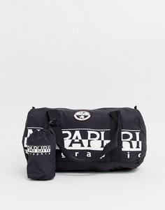 Черная сумка дафл объемом 26,5 л Napapijri Bering-Черный