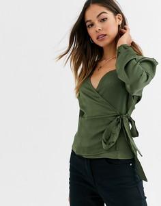Блузка с запахом Glamorous-Зеленый
