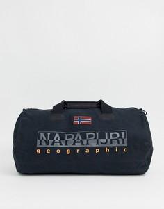 Черная сумка дафл с логотипом Napapijri Bering-Черный