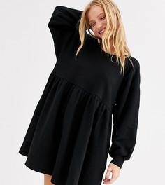 Черное свободное платье мини Monki-Черный