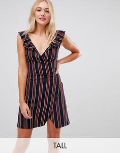 Платье в полоску с запахом Parisian Tall-Мульти