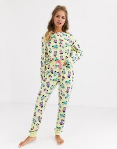 Пижама с принтом Chelsea Peers-Желтый