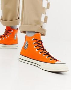 Оранжевые водонепроницаемые высокие кроссовки Converse Chuck Taylor All Star 70 162351C-Оранжевый