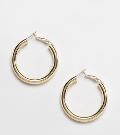 Эксклюзивные серьги-кольца с дизайном трубочек Liars & Lovers-Золотой