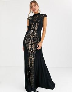 Кружевное платье Jovani-Мульти
