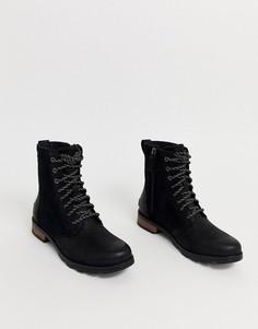Черные водонепроницаемые кожаные ботинки на шнуровке Sorel Emelie-Черный