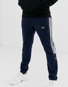 Темно-синие джоггеры с логотипом-трилистником adidas Originals-Темно-синий