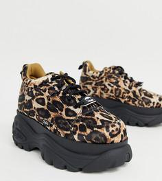 Низкие кроссовки на платформе с леопардовым принтом Buffalo London-Мульти