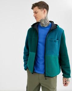 Двусторонняя флисовая куртка ASOS DESIGN-Зеленый