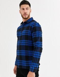 Рубашка в клетку Native Youth-Темно-синий