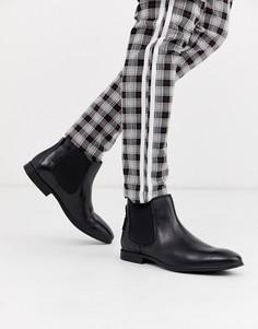 Черные кожаные ботинки челси Ben Sherman-Черный
