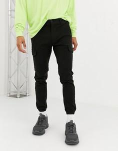 Черные брюки-карго Topman-Черный