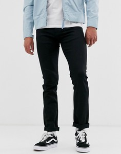 Черные прямые джинсы зауженного кроя Nudie Jeans Co-Черный