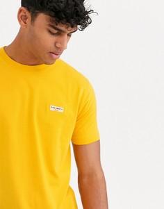 Желтая футболка с логотипом Nudie Jeans Co - Daniel-Желтый