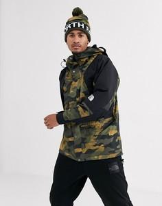 Легкая камуфляжная куртка цвета хаки The North Face 94-Зеленый