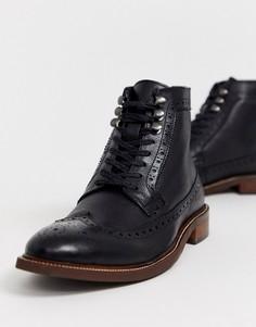 Черные кожаные походные ботинки на шнуровке Dune-Черный