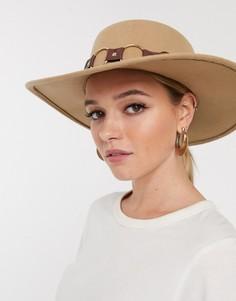 Фетровая шляпа ASOS DESIGN-Светло-коричневый
