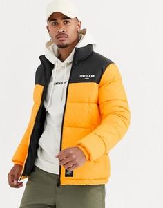 Дутая куртка с желтой вставкой Sixth June-Желтый